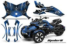 CAN-AM BRP SPYDER F3 GRAPHICS KIT CREATORX DECALS SPIDERX BLUE