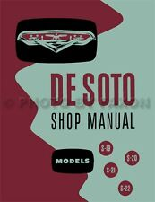 1954 1955 DeSoto Shop Manual 54 55 De Soto Repair Service Book S19 S20 S21 S22