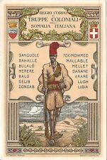 RARA ASCARI REGIO CORPO TRUPPE COLONIALI SOMALIA MILITARI WW2 WWII ILLUSTRATORE