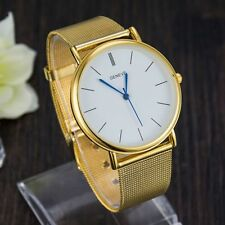 GENEVE MENS 14KT YELLOW GOLD FINISH OVER STAINLESS STEEL SILVER BAND AVAILABLE