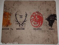GAME OF THRONES Houses Anti slip  COMPUTER MOUSE PAD 9 X 7inch HBO
