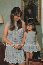 Mothers and daughters dress crochet pattern. Copy from vintage booklet.