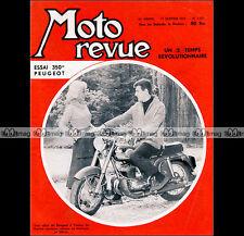 MOTO REVUE N°1373 PEUGEOT 350 356 TB, RENE GILLET 250 & SIDE-CAR, CZ 1958