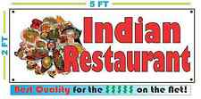 Full Color INDIAN RESTAURANT Banner Sign NEW Larger Size Delivery Buffet