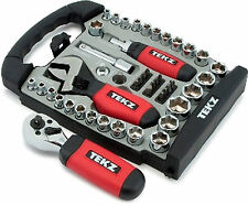 45 Piece 1/4in and 3/8in Drive Stubby Hand Tools Set Tit18020