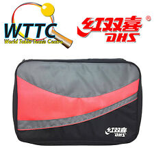Double Happiness DHS RC107 Table Tennis Single Bat Cover - RED