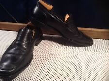 Bruno Magli Black Leather Loafers Men's Size 10 M Italian Hand Made