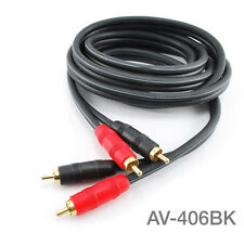 6ft Kirlin 2-RCA to 2-RCA Male to Male DJ/Mixer/Stereo Noise-Free Audio Cable