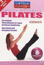 CARIBBEAN WORKOUT PILATES & PILATES PLUS Shelly McDonald 8 WORKOUTS 2 DVD ** NEW