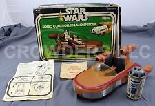 Vintage Star Wars Sonic Controlled Land Speeder w/ Remote & Original Box Kenner