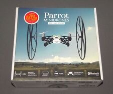 Parrot MiniDrones Rolling Spider White Drone RC Vehicle w Camera, Extra Battery