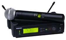 Shure SLX24/SM58 Handheld Wireless Microphone System G4 Band (470-494 MHz) NEW!