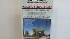 CLASSIC STRUCTURES ~ YARDMASTER'S OFFICE BUILDING KIT ~ LOT F ~ HO SCALE