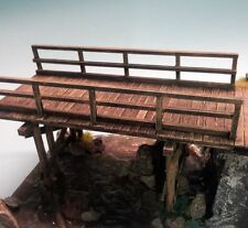 1/35 Scale Wooden Multispan beam Bridge/trestle - Military model kit