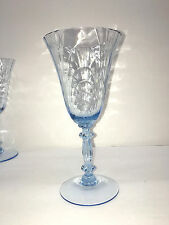 VINTAGE ELEGANT CAMBRIDGE CAPRICE MOONLIGHT BLUE 1937-1953 WATER GOBLET