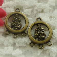 free ship 180 pieces bronze plated the Buddha connector 24x18mm #2282