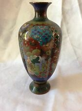 Antique Japanese Cloisonne , Golden wires, Flowers, Trees , Meiji Period