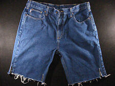 CARHARTT Vintage CUTOFF JEAN SHORTS Cut Off High Waisted W 40 MEASURED Long