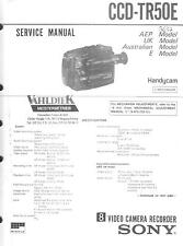 Sony Original Service Manual für Video 8  Handycam CCD-TR  50E