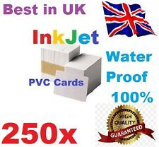 250 PVC inkjet id cards for Epson & Canon can print double-sided
