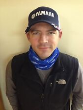 Keep warm in Yamaha Blue and White Neck Scarf with Yamaha Logo, Soft Material!!