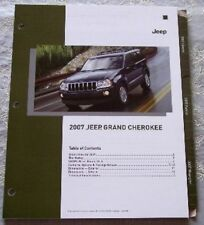 2007 JEEP GRAND CHEROKEE DEALERSHIP ONLY PRODUCT KNOWLEDGE LITERATURE BROCHURE!