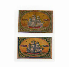 VERY OLD match box labels CHINA or JAPAN patriotic  #221