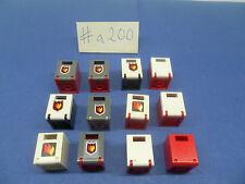 LEGO 12 x Schrank Kasten Feuerwehr (4345) mit Tür | aKlappe 2x2x2 #a200