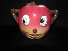 1950's Japan PY Anthropomorphic Red Apple Cheeks (happy face) Sugar Bowl *RARE*