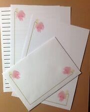 Pastel Rose Delight letter writing paper & envelopes stationery