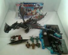 RARE MEGA Bloks Dragons, KRYSTAL GUERRE, Sea Dragon Set 9883, COMPLETO