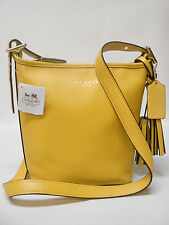NWT COACH LEGACY SIGNATURE LEATHER MINI DUFFLE CROSSBODY PURSE 19901 LEMON VHTF