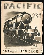 """PACIFIC 231"" PARTITION DE MUSIQUE D'ARTHUR HONEGGER ILLUSTRATION JACQ TEVENET"