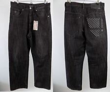 "AUTHENTIC ROCAWEAR DESIGNER, MENS JEANS,WAIST 32"", LEG 30"",STRAIGHT LEG black"
