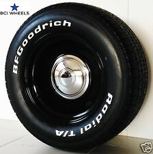 "15"" x 5"" 6"" 7"" 8"" 9"" SMOOTHIE BLACK steel WHEELS FALCON Ford HQ XY  HOTROD Chev"