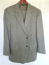 Jos A Bank Gray Suit 43L 34x30 Fine Tailoring Classic Prince of Wales Pattern