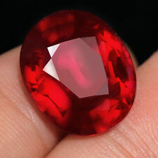 9.2CT Natural Mozambique Pigeon Blood Red Ruby Faceted Cut QHBd86R