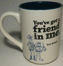 Hallmark Disney Pixar Toy Story You've Got A Friend In Me White Blue Mug Cup