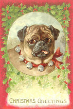 Antique Pug Dog by Louis Wain 1915 - LARGE New Blank Christmas Note Cards