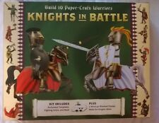 NEW! Knights in Battle Papercraft Kit Includes Arena, 10 Warriors and 2 Wind-ups