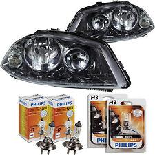 Scheinwerfer Set für Seat Ibiza Cordoba 6L 02.02-02.06 inkl. Philips + 30% H7+H3
