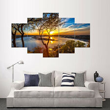 5 Pcs/Set Unframed Sunset Wall Art Pictures for Living Room Home Decors Optimal