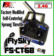 Spring Loaded 2.4G FS-CT6B FlySky 6 Channel RC Transmitter Receiver Controller