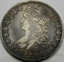1808/7 O-101 Capped Bust Half Dollar Choice EF-AU... So Very NICE and ORIGINAL!!