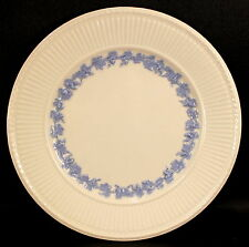 """Wedgwood Queens Ware Edme Blue Grapes Blue on White 9"""" Luncheon Plate GREAT COND"""