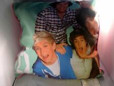 "ONE DIRECTION Pop Group Decorative Pillow Picture 15"" Square Pink"