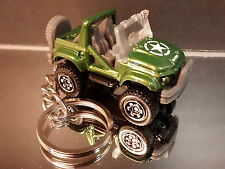 Green Side by Side Quad Key Chain Ring 4X4 Off Road ATV Diecast