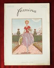 Femina Magazine ~ July 1, 1920 ~ Brissaud Cover ~ Vintage French Fashion