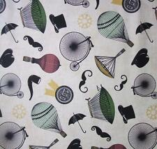Chillingsworth Bicycle Race Steampunk Balloon Moustache Bike Andover Fabric Yard