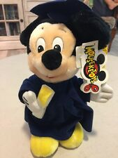 "Walt Disney World 12"" Plush MICKEY MOUSE GRADUATE Cap Gown Diploma Graduation"